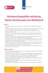 Gemeenschappelijke verklaring 'Samen doorbouwen aan Nederland'