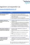 Registreren opwekinstallaties via energieleveren.nl, mogelijkheden